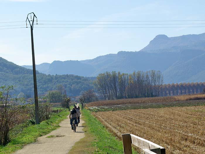 Ruta en bicicleta per a sèniors a la Garrotxa